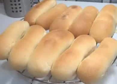 Булочки для хот догов: пошаговый рецепт с фото