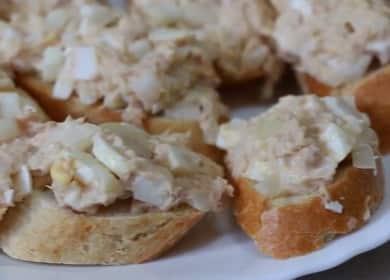 Бутерброды с тунцом — очень вкусная закуска