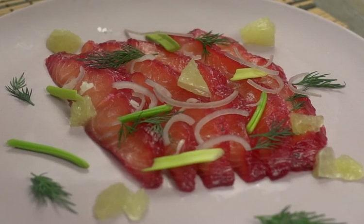 Карпаччо из розового лосося - удивите своих близких и друзей
