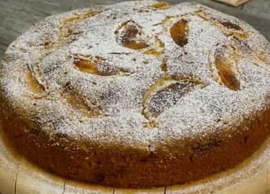 Кекс с яблоками по пошаговому рецепту с фото