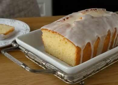 Лимонный кекс с глазурьюпо пошаговому рецепту с фото
