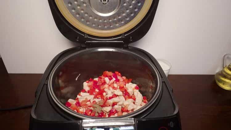 Для приготовления макарон смешайте ингредиенты