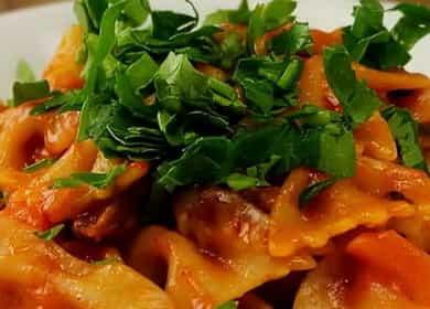 Макароны с мясом на сковороде — просто и очень вкусно 