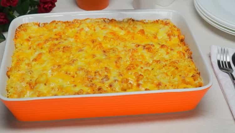 Макароны с сыром в духовке по пошаговому рецепту с фото