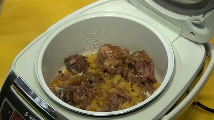 Для приготовления блюда соединяем ингредиенты