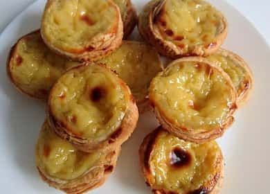 Пирожное из слоеного теста по пошаговому рецепту с фото