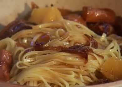 Свинина с макаронами — рецепт очень вкусного и простого ужина 🍝