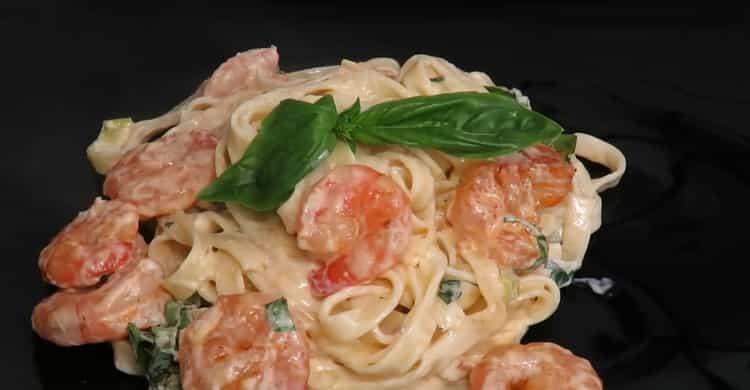 Спагетти с креветками по пошаговому рецепту с фото