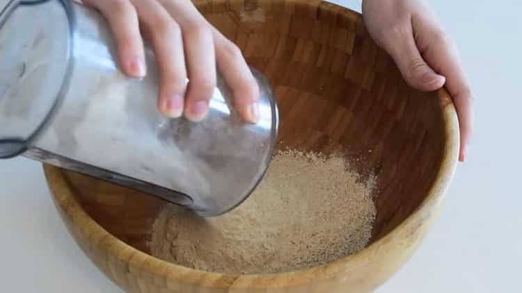 Для приготовления хлеба на кефире подготовьте ингредиенты