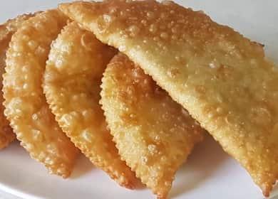 Чебуреки из слоеного теста по пошаговому рецепту с фото