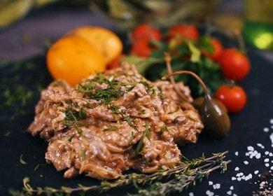 Готовим бефстроганов из говядины: классический рецепт со сливками.