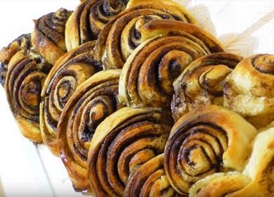 Простые и очень вкусные булочки с корицей 縷