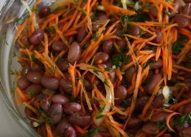 Готовим очень вкусный салат с фасолью: простой пошаговый рецепт с фото.