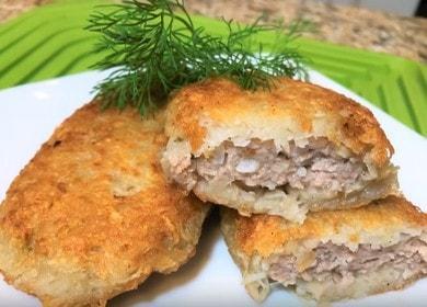 Картофельные драники с фаршем — тонкая хрустящая корочка и много ароматного сочного мяса 凜