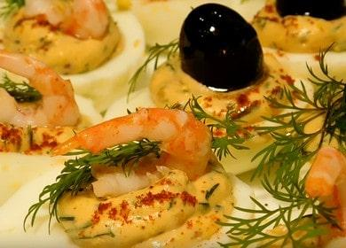 красивая праздничная закуска с креветками: готовим по пошаговому рецепту с фото.