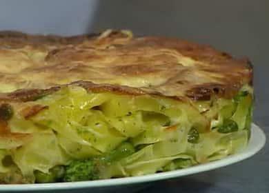 Вкусная запеканка из лапши с овощами и сыром 🍝