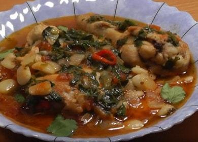 Ароматная курица с фасолью: готовим рагу по рецепту с фото и видео.