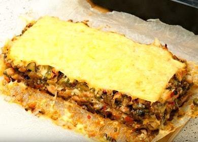 Вкуснейшая лазанья с фаршем из лаваша в духовке: готовим по пошаговому рецепту с фото.
