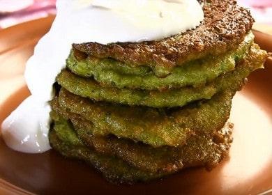 Готовим полезные и вкусные оладьи из брокколи по пошаговому рецепту с фото.