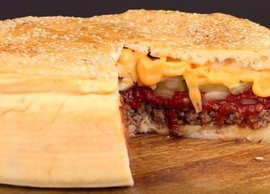 Мясной пирог Чизбургер — очень вкусный рецепт 