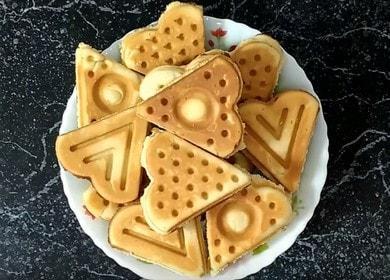 Вафли в советской вафельнице на плите — вкус детства 🍪