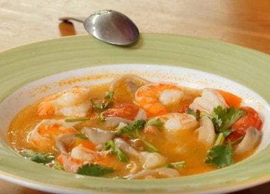 Готовим суп том-ям с креветками по рецепту с пошаговыми фото.