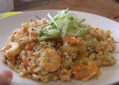 Готовим вкуснейший рис с креветкаи и овощами по пошаговому рецепту с фото.