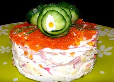 Бесподобно вкусный салат с кальмарами и крабовыми палочками на праздничный стол 🦑