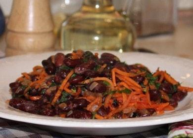 Вкусный салат с красной консервированной фасолью по пошаговому рецепту с фото 🥗