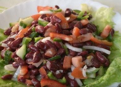 Готовим вкуснейший салат с фасолью по пошаговому рецепту с фото.