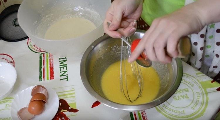 Для аромата добавляем в сдобу мускатный орех.