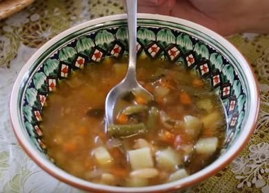 Варим вкусный суп из белой фасоли по пошаговому рецепту с фото.