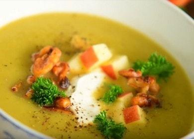 Суп из сельдерея и яблок с орехами — веганский рецепт 🍲