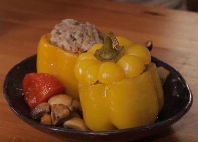Фаршированный перец — вкусный рецепт в духовке 🌶