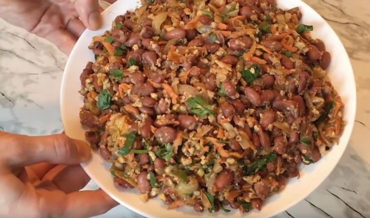 Фасоль по-грузински готова.