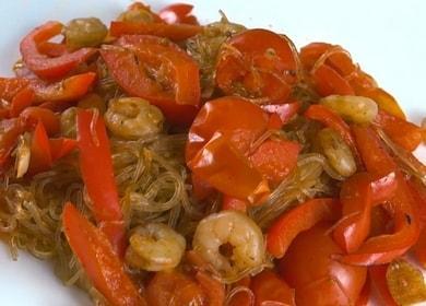 Аппетитная фунчоза с креветками: готовим по рецепту с пошаговыми фото.