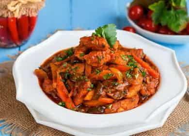 Вкусный рецепт приготовления азу из индейки на сковороде дома 🍲
