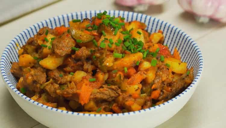 Вкусное татарчское азу по пошаговому рецепту с фото