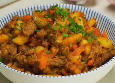 Готовим азу из тушеной говядины с картофелем по татарскому рецепту 🍲