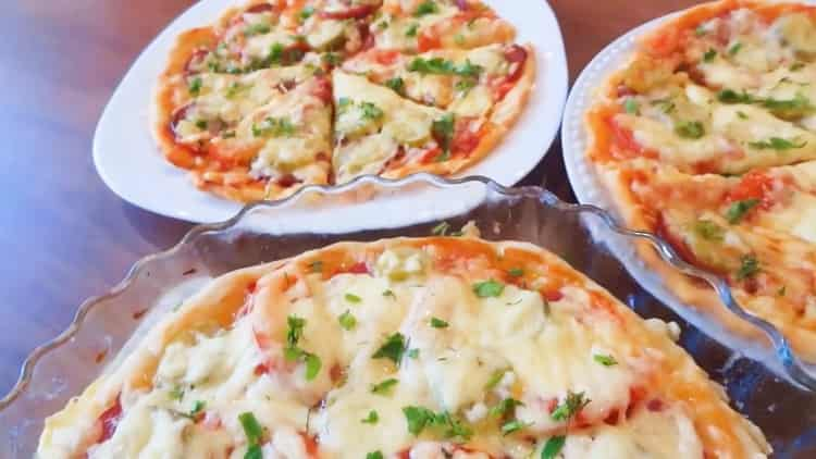 Быстрое тесто для пиццы без дрожжей, молока, кефира и сметаны - всего за 2 минуты