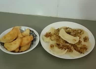 Вкусные жареные вареники с картошкой
