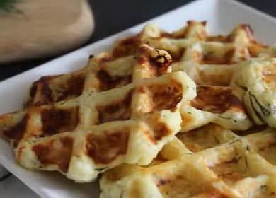 Сырные вафли с зеленью, приготовленные в вафельнице — вкуснейший завтрак 🍪