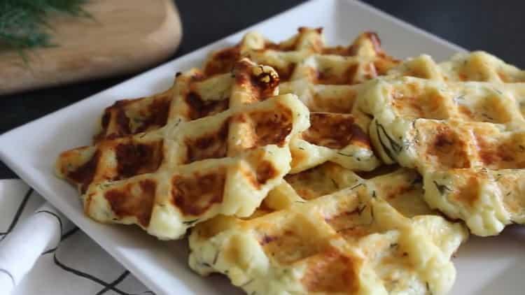 Сырные вафли в вафельнице по пошаговому рецепту с фото