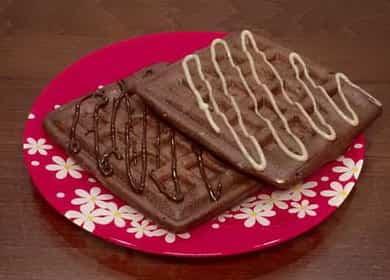 Пышные венские шоколадные вафли в мультипекаре 