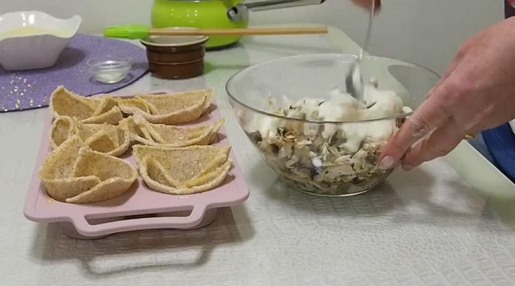 Для приготовления жульена приготовьте начинку
