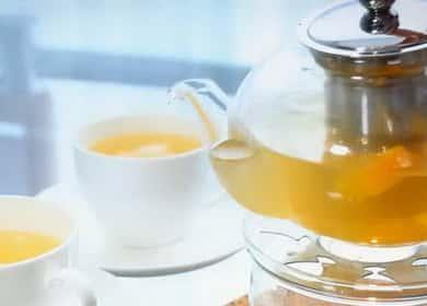 Рецепт приготовления вкусного чая из имбиря с медом 🍯