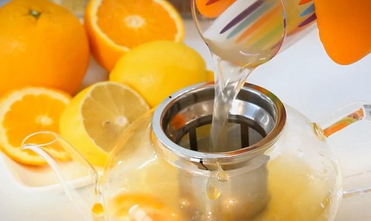 Для приготовления чая подготовьте ингредиенты