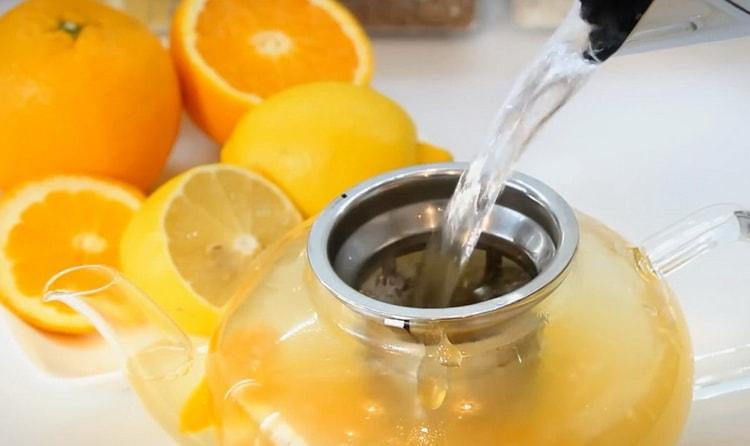 Для приготовления чая подготовьте посуду