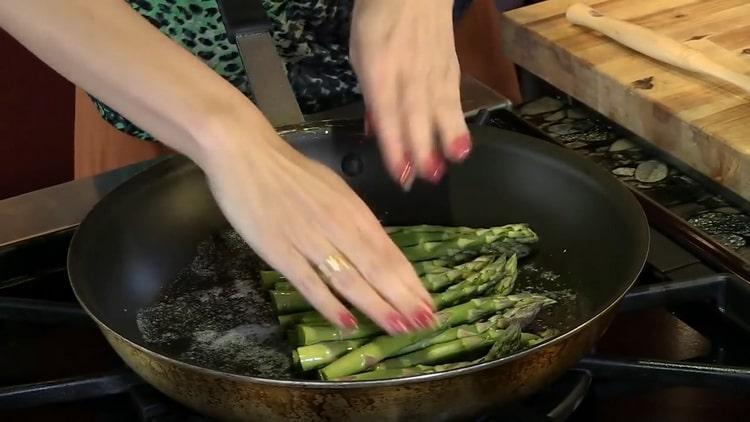 как готовить спаржу зеленую свежую