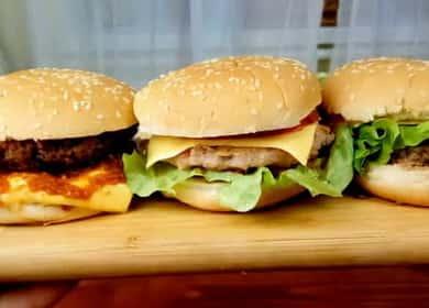 3 способа как сделать очень вкусный гамбургер 